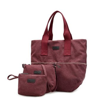 3 Pcs Women Canvas Tote Bags Casual Shoulder Bags Crossbody Bags Vintage Clutches-Newchic-