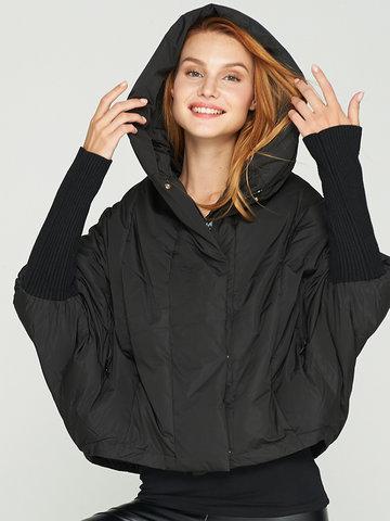 Batwing Sleeve Cloak Down Coats-Newchic-