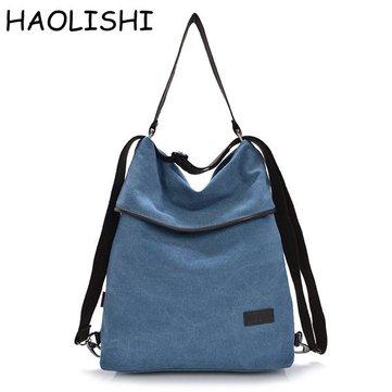 Brand HAOLISHI Women Casual Canvas Shoulder Bag Leisure Crossbody Bag Outdoor Backpack-Newchic-