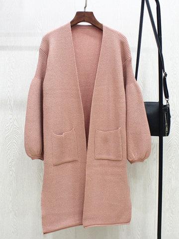 Brief Women Long Cardigans-Newchic-