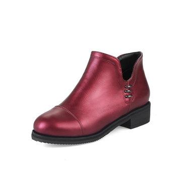 Bright Surface Retro Boots-Newchic-Multicolor