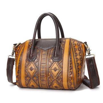 Brush-off Leather Handbag-Newchic-