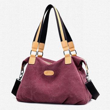 Canvas Casual Capacity Handbag Shoulder Bag Crossbody Bag For Women-Newchic-