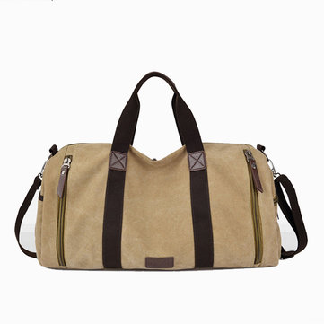 Canvas Large Capacity Casual Travel Bag Luggage Bag Handbag Shoulder Bag-Newchic-