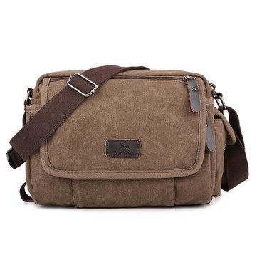 Canvas Outdoor Travel Leisure Shoulder Men Women Retro Capacity Crossbody Bag-Newchic-