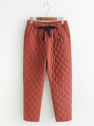 Casua lWomen Cotton-Padded Pants-Newchic-
