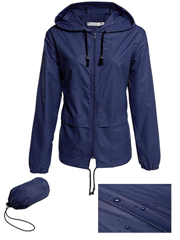 Casual Hooded Waterproof Women Coats-Newchic-
