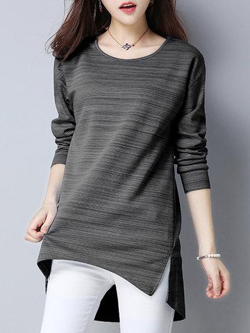 Casual Irregular Splited Women T-shirts-Newchic-