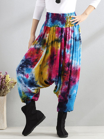 Casual Loose Printed Women Wide Leg Pants-Newchic-