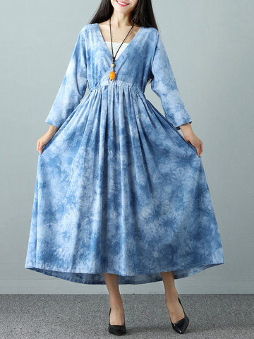 Casual Loose Women Tie-Dyeing Dresses-Newchic-