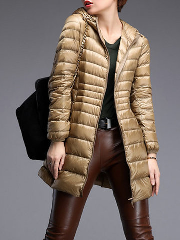 Casual Portable Women Light Down Jackets-Newchic-