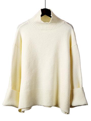 Casual Pure Women Sweaters-Newchic-