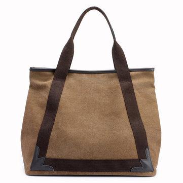 Casual Women Canvas Patchwork Handbag-Newchic-