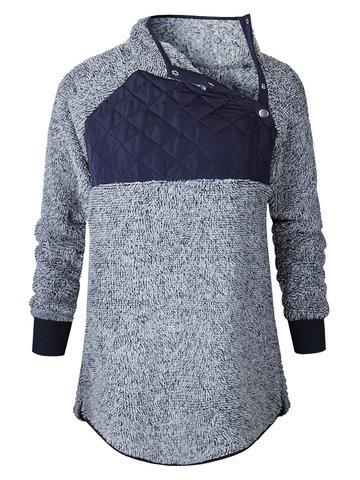 Casual Women Patchwork Sweatshirts-Newchic-