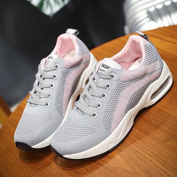 Color Block Platform Lace Up Casual Shoes For Women-Newchic-Multicolor