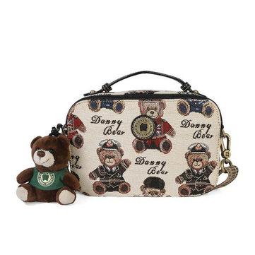 DANNY BEAR Cube Bear Printed Shoulder Bags-Newchic-