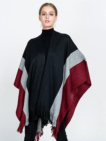 Elegant Imitation Cashmere Knitted Shawl-Newchic-