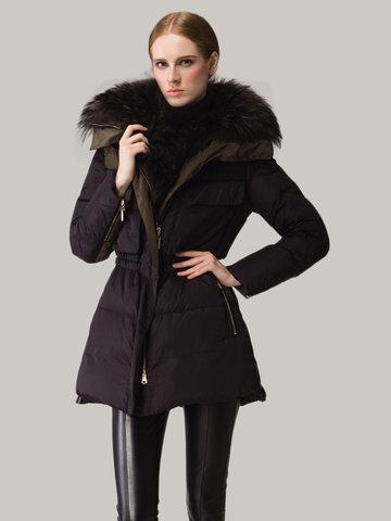 Elegant Pocket Zipper Duck Down Coats-Newchic-