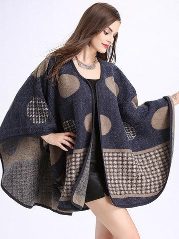 Elegant Print Imitation Wool Shawl-Newchic-