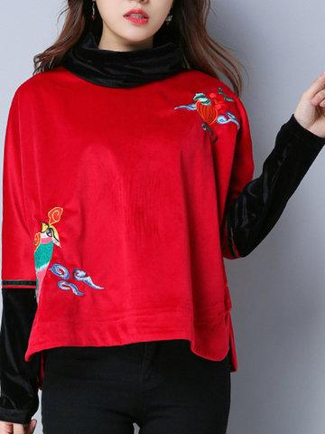 Embroidered Chinese Style Sweatshirts-Newchic-
