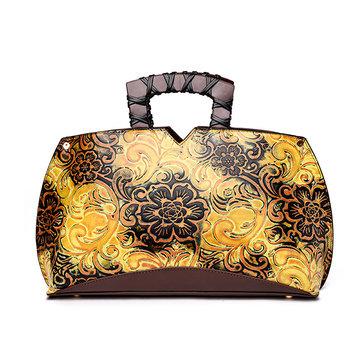 Embroidery PU Tote Bag-Newchic-