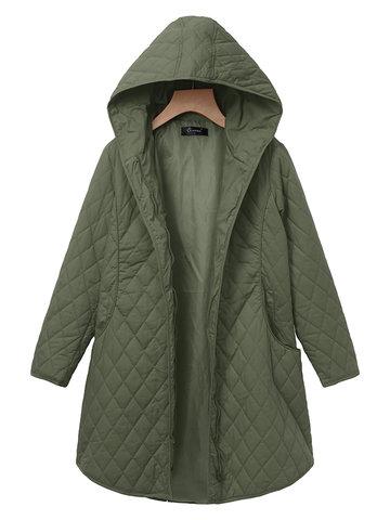 Fashion Hooded Pocket Thin Coats-Newchic-