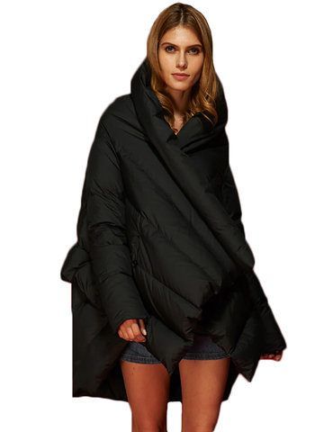 Fashion Pocket Cloak Down Coats-Newchic-