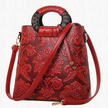 Floral Elegant National Handbag-Newchic-