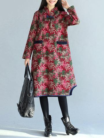 Floral Print Irregular Women Dresses-Newchic-