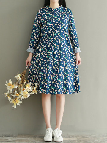 Floral Printed Women Dresses-Newchic-