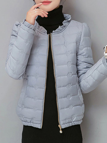Floral Women Padded Coats-Newchic-