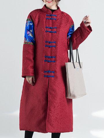 Folk Style Patchwork Women Coats-Newchic-