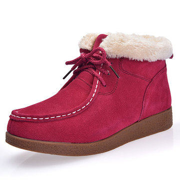 Fur Lining Casual Boots-Newchic-Multicolor