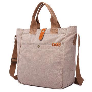 Genuine Leather Canvas Tote Handbags Casual Briefcase Vintag-Newchic-