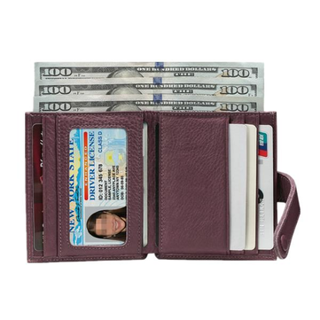 Genuine Leather Coin Pocket 7 Card Holders Wallets-Newchic-