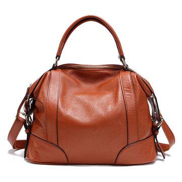Genuine Leather Vintage Bucket Bag Handbag-Newchic-