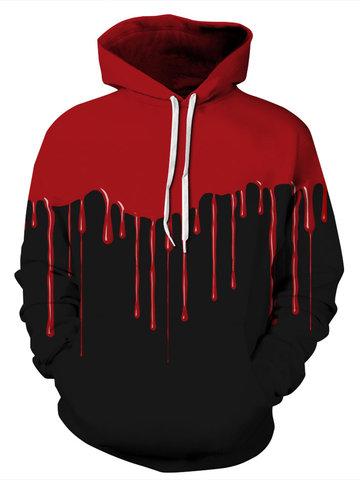 Halloween Blood Print Women Hoodie-Newchic-