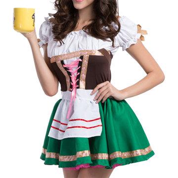 Halloween Fluffy Maid Uniform Cosplay-Newchic-