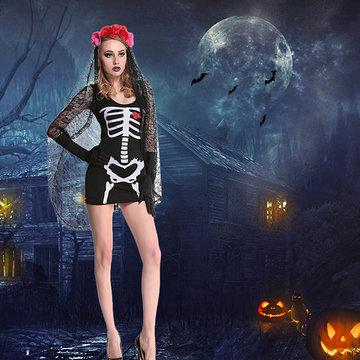 Halloween Ghost Bride Skull Devil Cosplay-Newchic-