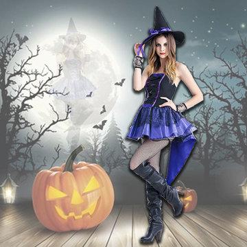 Halloween Sorceress Dress Costumes-Newchic-