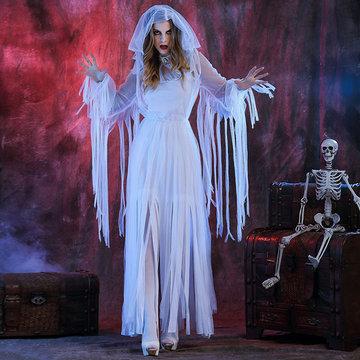 Halloween White Ghosts Bride Cosplay-Newchic-