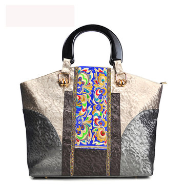 Handmade Embroidery National Style Handbag-Newchic-