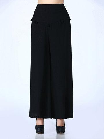 High Waist Wide Legs Women Pants-Newchic-