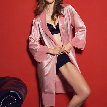 Imitated Silk Fabric Comfort Sleepwear-Newchic-