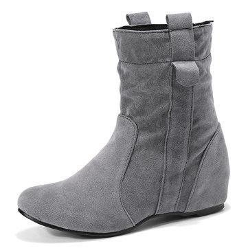 Increased Heel Mid Calf Boots-Newchic-Multicolor