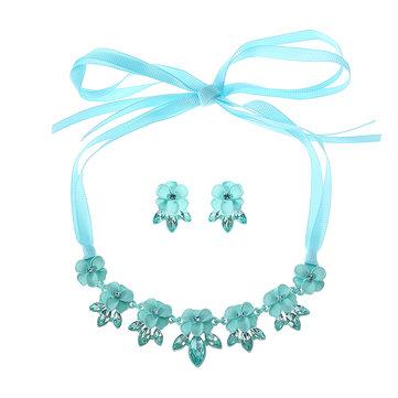 JASSY® Blue Flower Jewelry Set-Newchic-