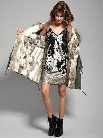 JAZZEVAR Warm Hooded Pocket Coats For Women-Newchic-