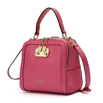 Kadell PU Leather Candy Color Handbag Shoulder Bag Crossbody-Newchic-