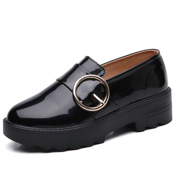 LANMARH Shiny Shallow Flat Loafers-Newchic-Multicolor