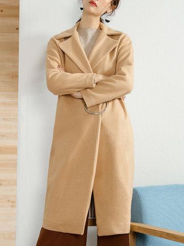 LILITH A PARIS Casual Woolen Coats-Newchic-